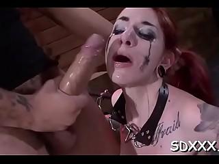 Stupendous gal Sheena Rose deepthroats a big lovestick