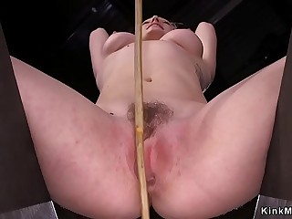 Blonde sub Lily LaBeau gets caned