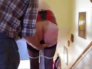 grandma whipped with a plug in her ass