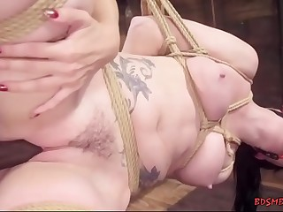Cherie DeVille playing with her slave gal