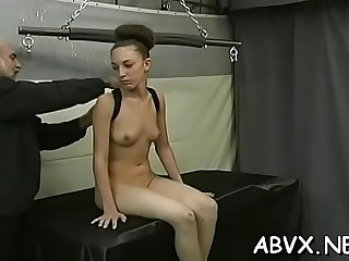 Glamorous girl bought her very first vibrator