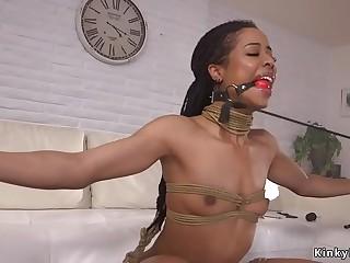 Life coach assfuck fucks tied up ebony