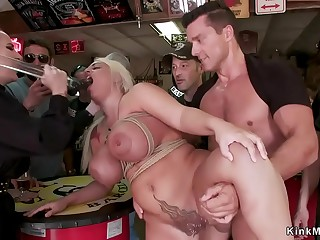 Monster tits alt sub double penetration drilled in public