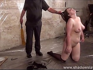 Candle wax bdsm of spanked submissive in rough domination session