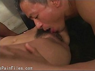 Japanese supremacy of sexually tortured oriental slaveslut in hard-core pounding