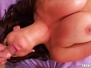 High-Speed Dirty Ass-to-mouth & Jizz Facial. Submissive Big-titted Wifey Humiliated with Filthy Anal Sex. Big Mummy Knockers and Homemade Cock Sucking Clean Up in High Heels.