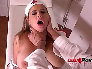 Submissive sexy nurse Candy Alexa receives intense BDSM treatment by Doc GP348