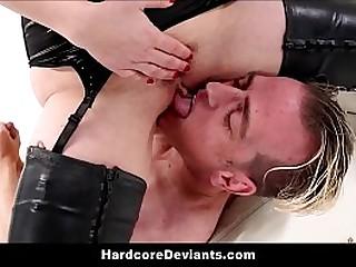 Sexy Predominant Femdom Mummy Aiden Starr Fisting Anal Fucks With Dildo With BDSM Humiliation For Boyfriend