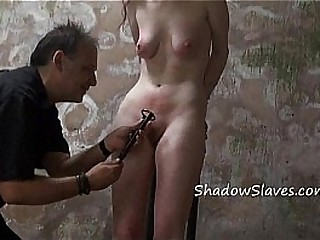 Whipped amateur slave Sachas hardcore spanking and extreme bdsm of tortured gimp