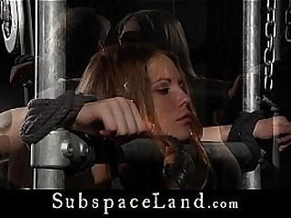 Petite slave whip muffle fuck with Bondage & Discipline vibrator