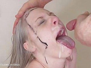 Hard, painful anal and suspensions bondage for sadistic blond girl (Violet October)