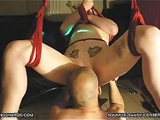 GANGBANGSHARDS.COM bondage hogtied broute minou pour soumise sandy