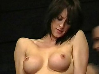 Busty british Danii Black pussy tortured and tit lashed in the dungeon of extr