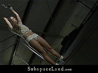 Curly virginal blond Mary Dream hard bdsm training