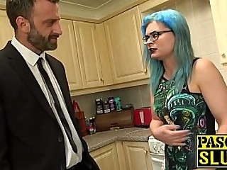 Dirty sub eats cum after Sadism & Masochism pounding