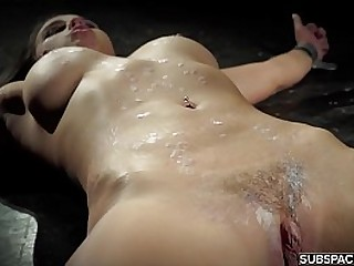 Hot bdsm and punishment sex for young slave