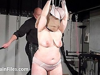 Bagged bbw in harassment melon whipping and titty tortures of crying amateur bdsm