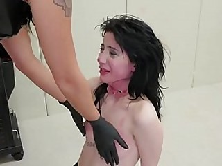 Hardcore bdms action with girl slave in training