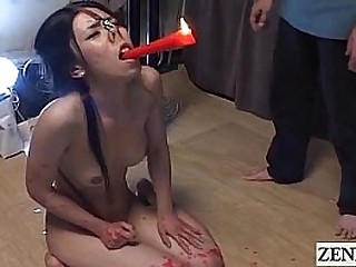 Extreme Japanese Sadism & Masochism crimson hot wax candle play Subtitles
