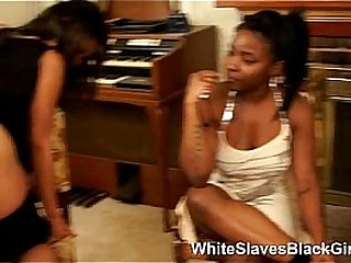 White obedient slaves rimming black ass