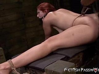 Beautiful redhead BDSM analled and facial cumshot