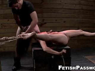 Cockblowers babe in bondage fucked hardcore