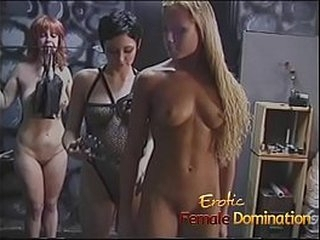 Even though it was this sexy blonde's very first time, she made a insane slave girl.