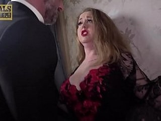 Busty sub in stockings ass fucking domination