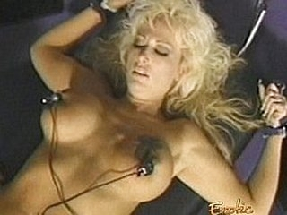 Sugary blonde tart with massive melons gets caned by an inked redhead