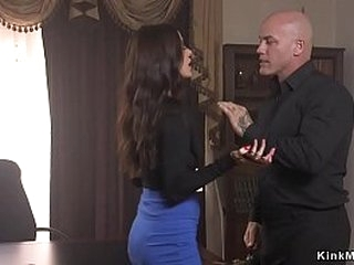 Derrick Pierce tied Gia DiMarco and pounded her mouth and whipped butt