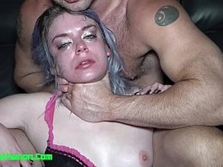 Dirty Whore Aura Moon Throat Fucked & Roughly a. By Daddy