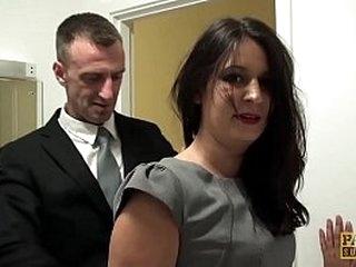 Super hot subslut gets anal discipline