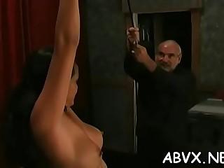 Fat arse mature needy bondage