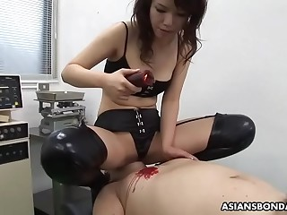 Remi Kawamura is a perfect Mistress with a strap on