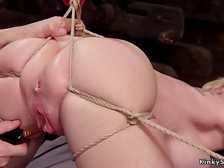 Big tits mature suffers extreme bondages