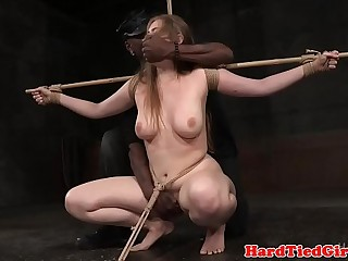 Bigtitted submissive punished by maledom