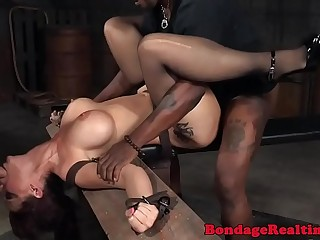 Tattooed milf slave fucked and deepthroated