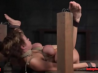 Bigtits milf sub punished by master