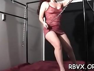 Beautiful maid was caught while she was masturbating