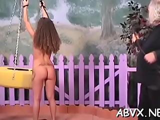 Heavenly girl is gently rubbing her wet cunt
