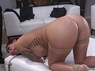 Great cop ties up and pound ginger babe