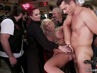 Bikers public assfuck fucks big tits blonde