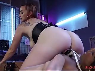 Two horny lesbians enjoying hardcore bondage sex