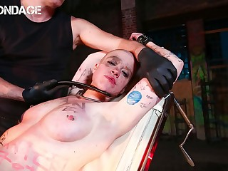 FORBONDAGE  German Babe Red Used Gets Tagged And Despotized By Very Sloppy Guys