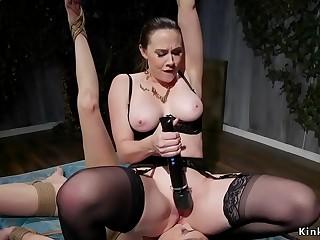 Mistress anal fucks lesbian slave
