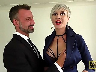 PASCALSSUBSLUTS  Busty Tanya Virago fed jism after HC anal