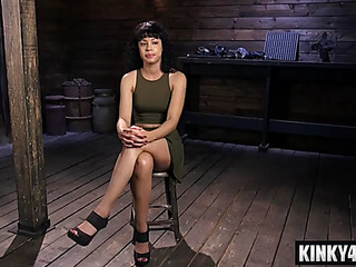 Hawt pornstar sadomasochism slavery and spunk flow