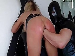 Buxomy light-haired slave aggressively fisted till she squirts