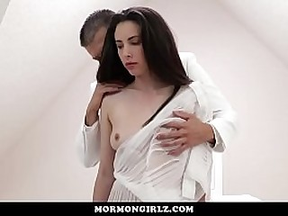 Timid woman forced into submission by dominant husband