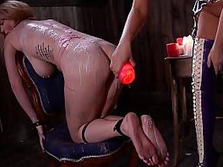 Spanking, hair pulling & dick sucking makes obedient Satin Bloom want more